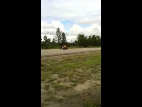 Crash on go kart