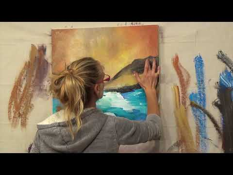 "Abstract Art Painting Demo - Original by Shari Kreller ""Mouth of the River"""