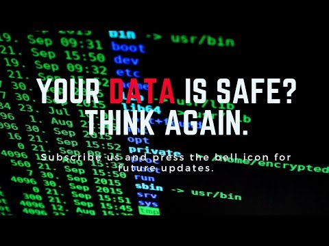 Your Data is Safe ? Think Again. Data security tutorial.
