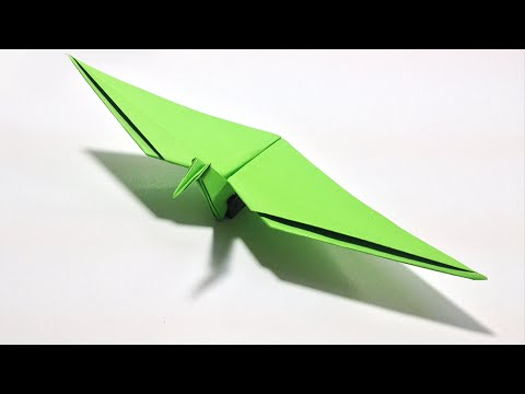 Origami Dinosaur - How to make an Origami Flying Dinosaur ... - photo#20