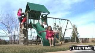 Lifetime Clubhouse Swing Set (earthtone) Epic Swingset Review