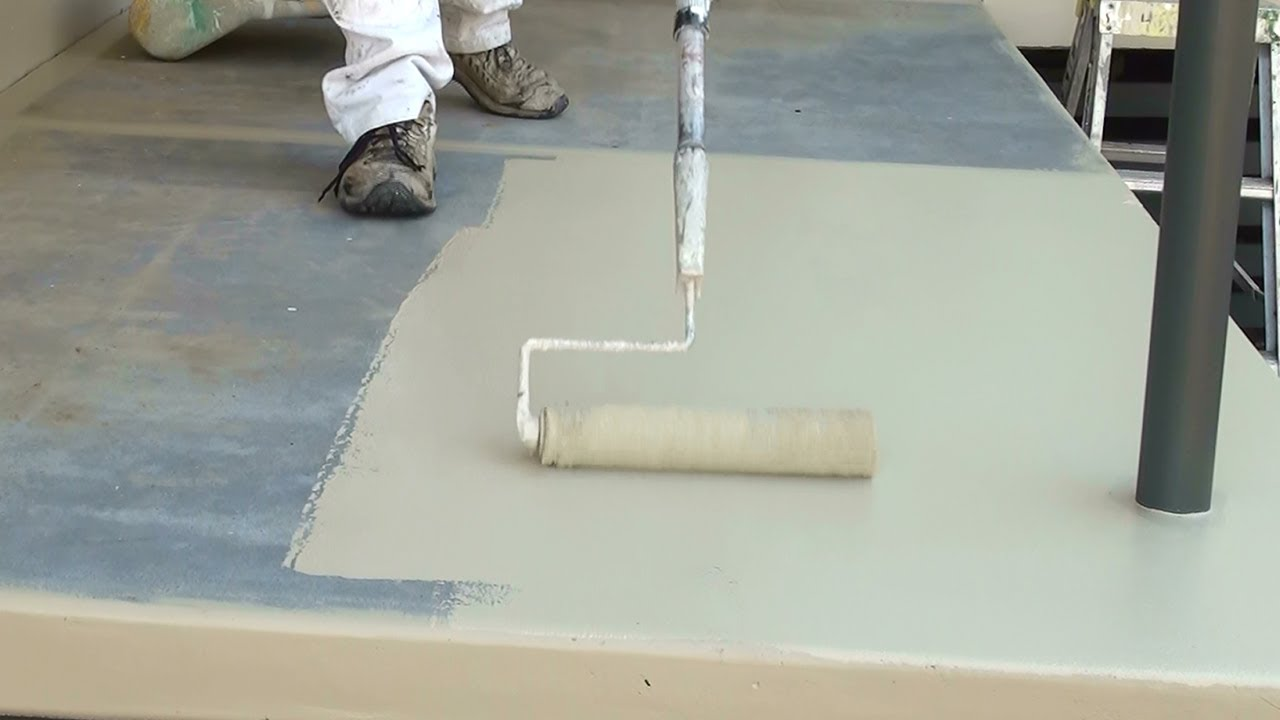 How to paint a concrete floor step by step guide on how for Can you paint over linoleum floors