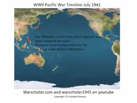 World War 2 - Timeline of the Pacific War - YouTube