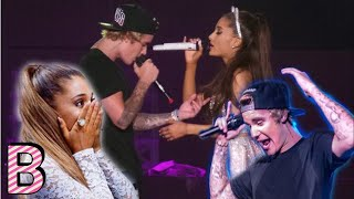 Ariana's Grande EPIC REACTION to Justin Bieber on stage