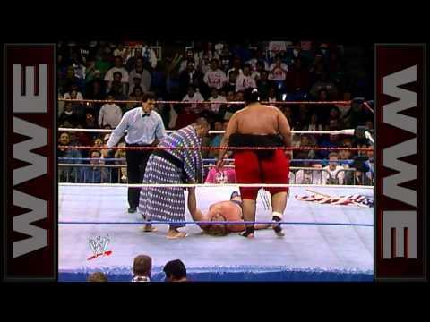 "WWE Hall of Fame: Yokozuna destroys ""Hacksaw"" Jim Duggan"