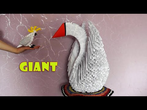 How To Make A Giant 3d Origami Swan