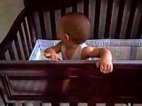 Austin Jumping in his Crib