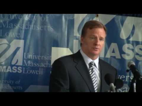 NFL Commissioner, Roger Goodell talks about UMass Lowell & Chancellor Marty Meehan 5/29/10