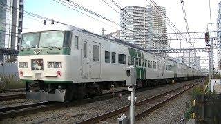 JR東海道本線E231系普通国府津行き&185系特急「踊り子」東京行き
