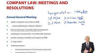 Meetings and Resolutions - ACCA Corporate and Business Law (LW) (ENG) (GLO)