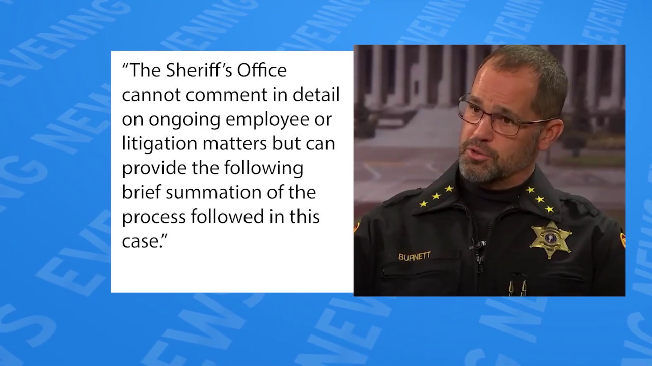 Sheriff Burnett releases statement on employee termination