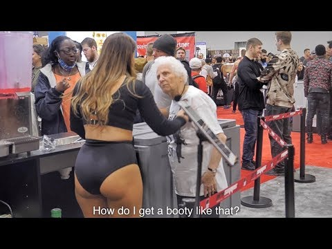 Grandma Heckles Bodybuilders