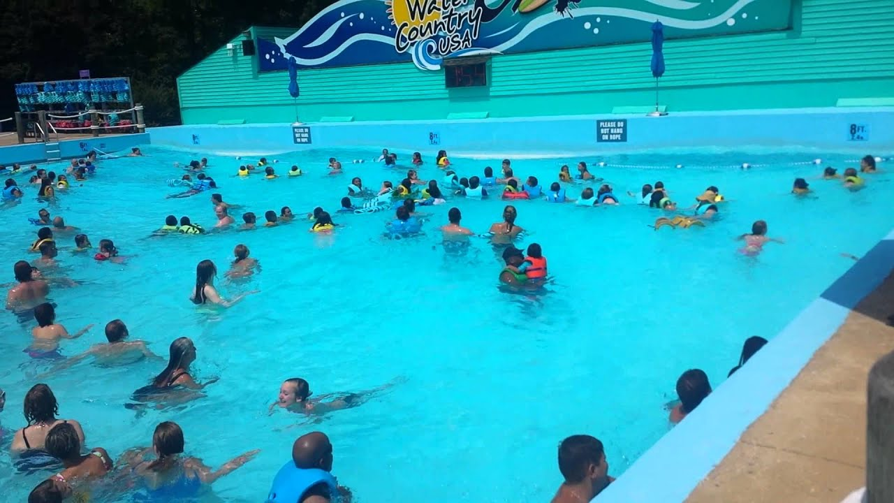 Wave pool water country va youtube for Pool show usa