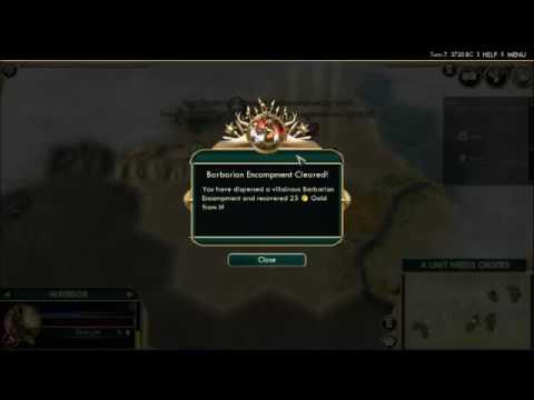 Civilization V HARDCORE Episode 1 - Free techs!