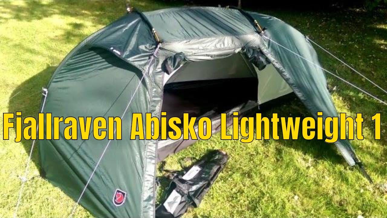 & Fjallraven Abisko Lightweight 1 backpacking tent - YouTube