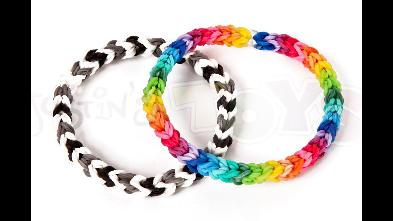 classic a capped to rainbow single youtube how singles double make loom looped bracelet watch