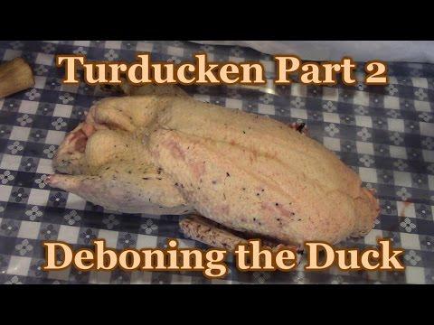 Turducken Part 2 Deboning the Duck!