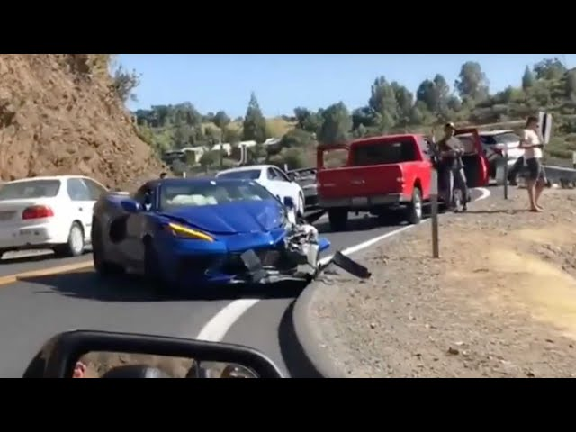 C8 Corvette Smashed, Electric Harley, and TESLA Heist