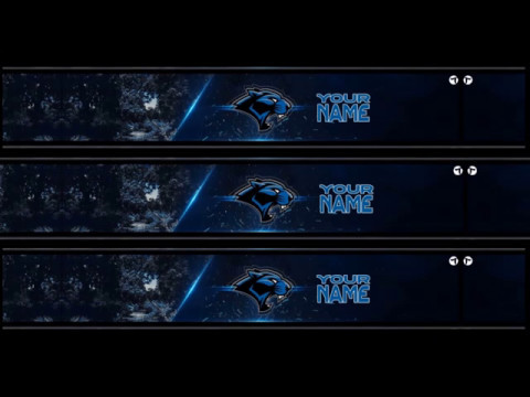 FREE PANTHER MASCOT BANNER AND LOGO TEMPLATE - Photoshop CS6 & CC #4 ...