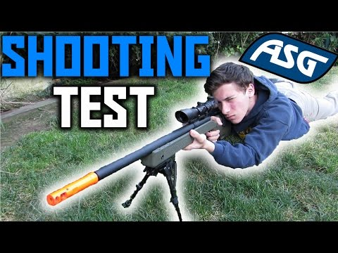 ASG M40A5 Gas Sniper Shooting Test- Airsoft Sniper   Chrono/Accuracy/Damage Test