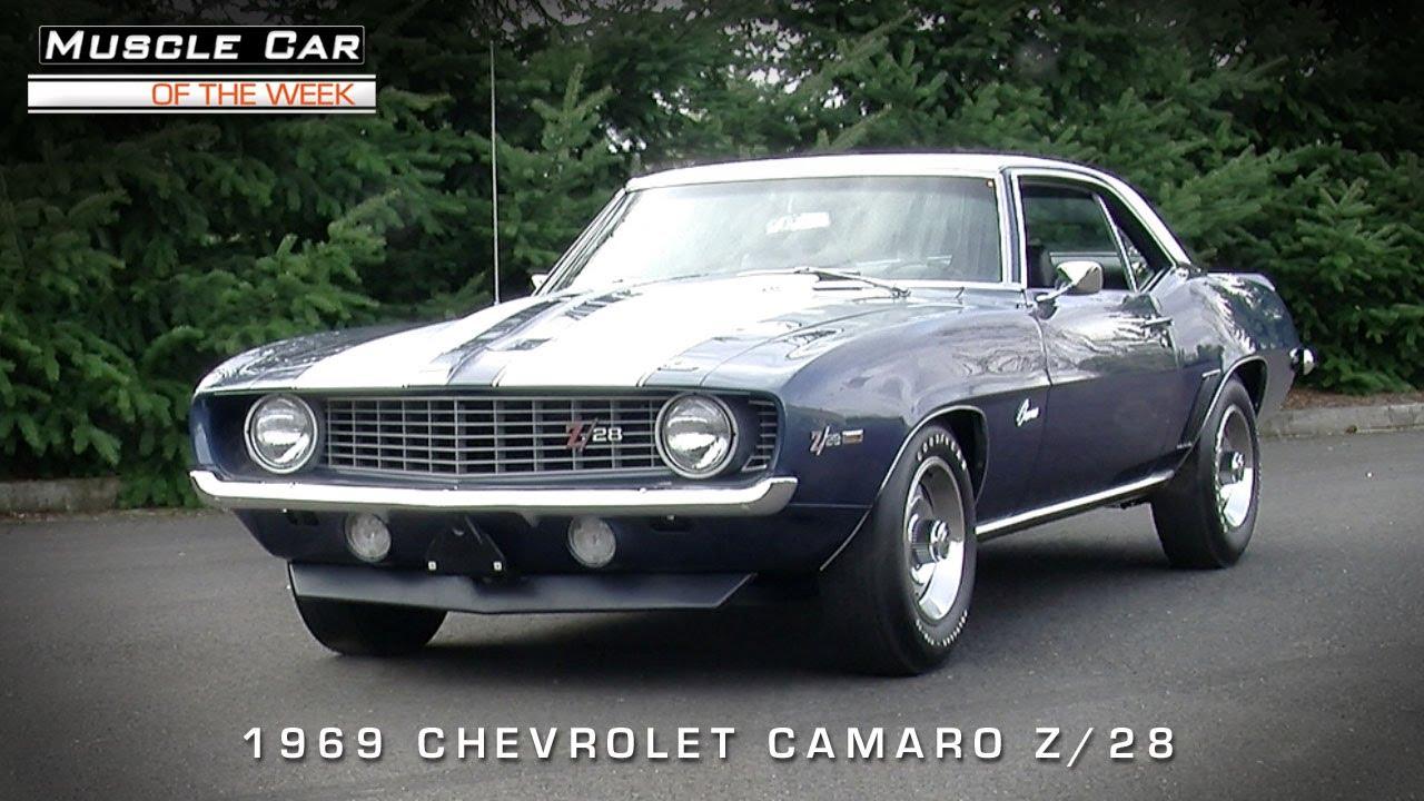 Muscle Car Of The Week Video 55 1969 Chevrolet Camaro Z 28 302