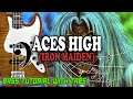 Iron Maiden - Aces High - BASS Tutorial [With Tabs] - Play Along
