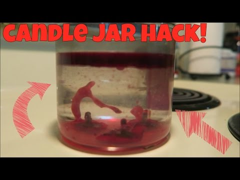 Candle Jar Hack - remove the wax easily! | Tia Michelle