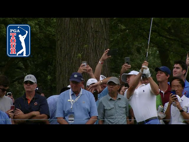 Justin Thomas sticks approach from rough at BMW Championship 2019