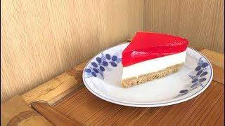 How to make Strawberry Jelly Cheesecake Easy No-bake recipe