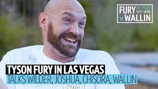 Tyson Fury hilarious and uncut in Vegas! Prank calling Joshua, Wilder rematch, Chisora rant