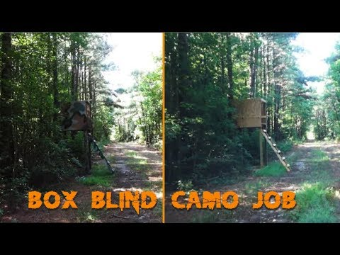 Camoing Up A Deer Box Blind