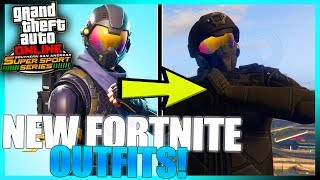 4 AWESOME FORTNITE BATTLE ROYALE OUTFIT SKINS IN GTA ONLINE!