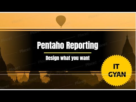 Pentaho Report Designer | Introduction And Features.