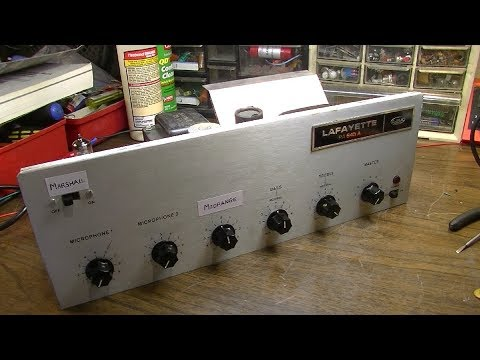 Amp Reassignment Surgery - 60s Lafayette PA Thinks it's a Marshall 2204