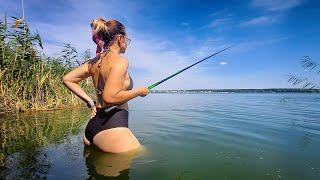 24 ЧАСА НА РЫБАЛКЕ С ЖЕНОЙ - НОЧЬ В ПАЛАТКЕ | Рыбалка с ночевкой в полном комфорте