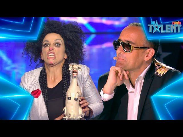 Esta CÓMICA hace MÚSICA con PEDOS DE CERDO   Audiciones 3   Got Talent España 7 (2021)