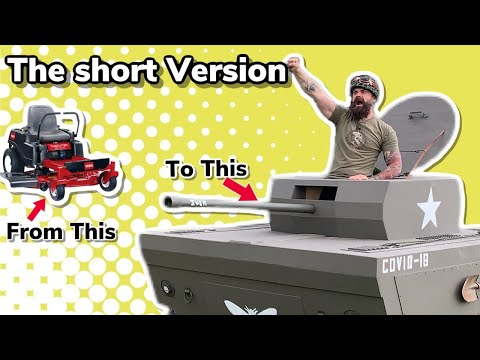 I Turned my Lawnmower Into a Tank | The Short Version