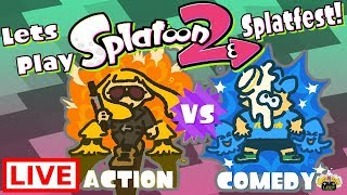 🔴Splatoon 2 [Live] Splatfest, Action vs Comedy