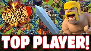 "Clash of Clans - ""TOP PLAYER ATTACK IN WAR"" (OMG Clash Of Clans Raiding!) + FAIL!"