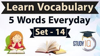 Daily Vocabulary - Learn 5 Important English Words in Hindi every day - Set 14 on Tohubohu