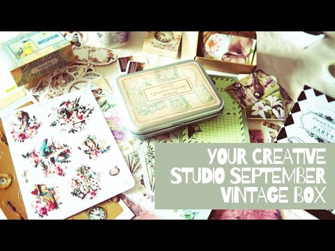 Your Creative Studio September Vintage Box- Alice!