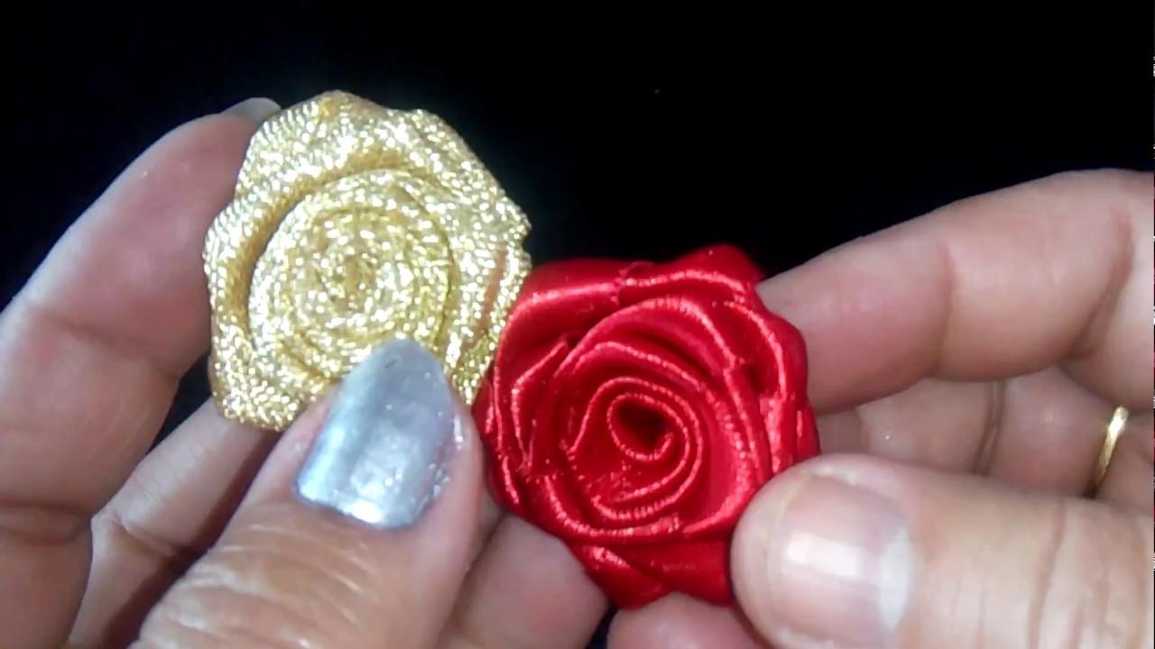 53 How To Make Satin Ribbon Roses Hindi Urdu Youtube