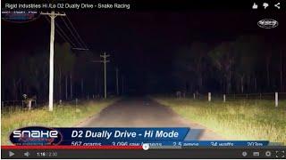Rigid industries Hi/Lo D2 Dually Flush Mount Drive - Snake Racing
