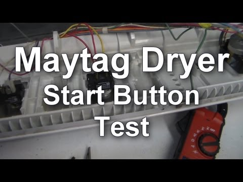 Maytag Dryer Won't Start - Testing the Start on - YouTube on