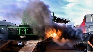 ОГОНЬ: запуск КРАЗа с танковым мотором и заезды по треку