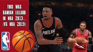 This Was Damian Lillard In NBA 2K13...(vs NBA 2K19)