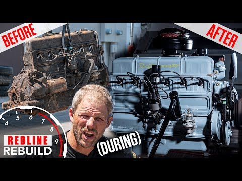 Rusty To Running: Chevy Stovebolt 6 Engine Rebuild Time Lapse | Redline Rebuild S3E5