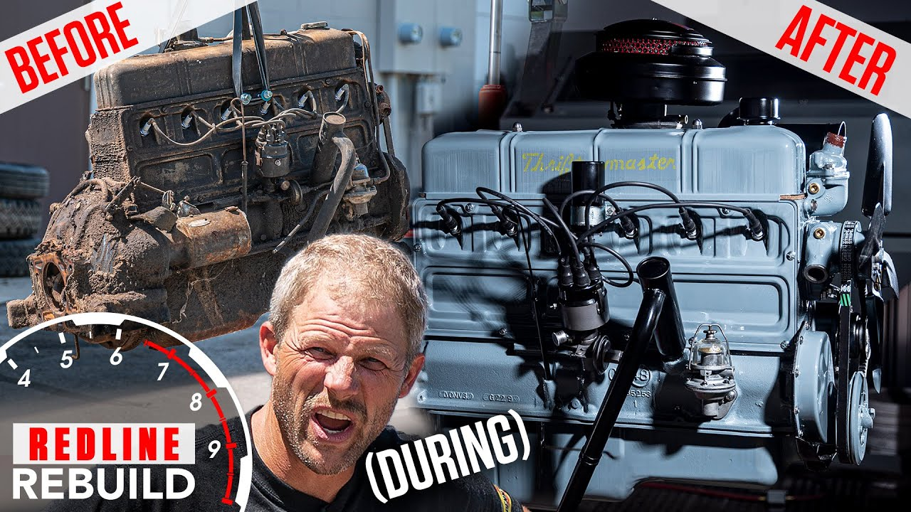 Download Rusty to running: Chevy Stovebolt 6 engine rebuild time lapse | Redline Rebuild S3E5