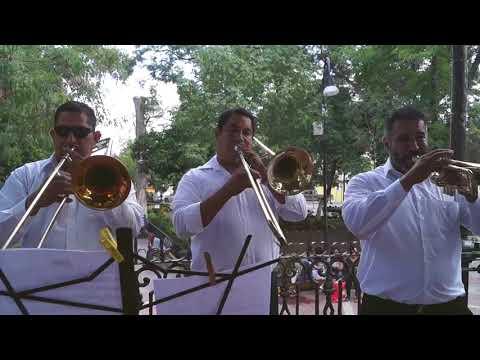 Orquesta en la Plaza de Lerdo Dgo. TEMA: 23 de Infantería.