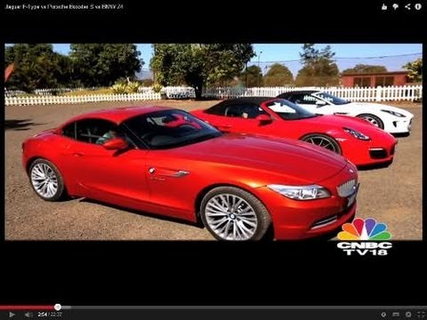 Jaguar F Type Vs Porsche Boxster S Vs Bmw Z4 Youtube